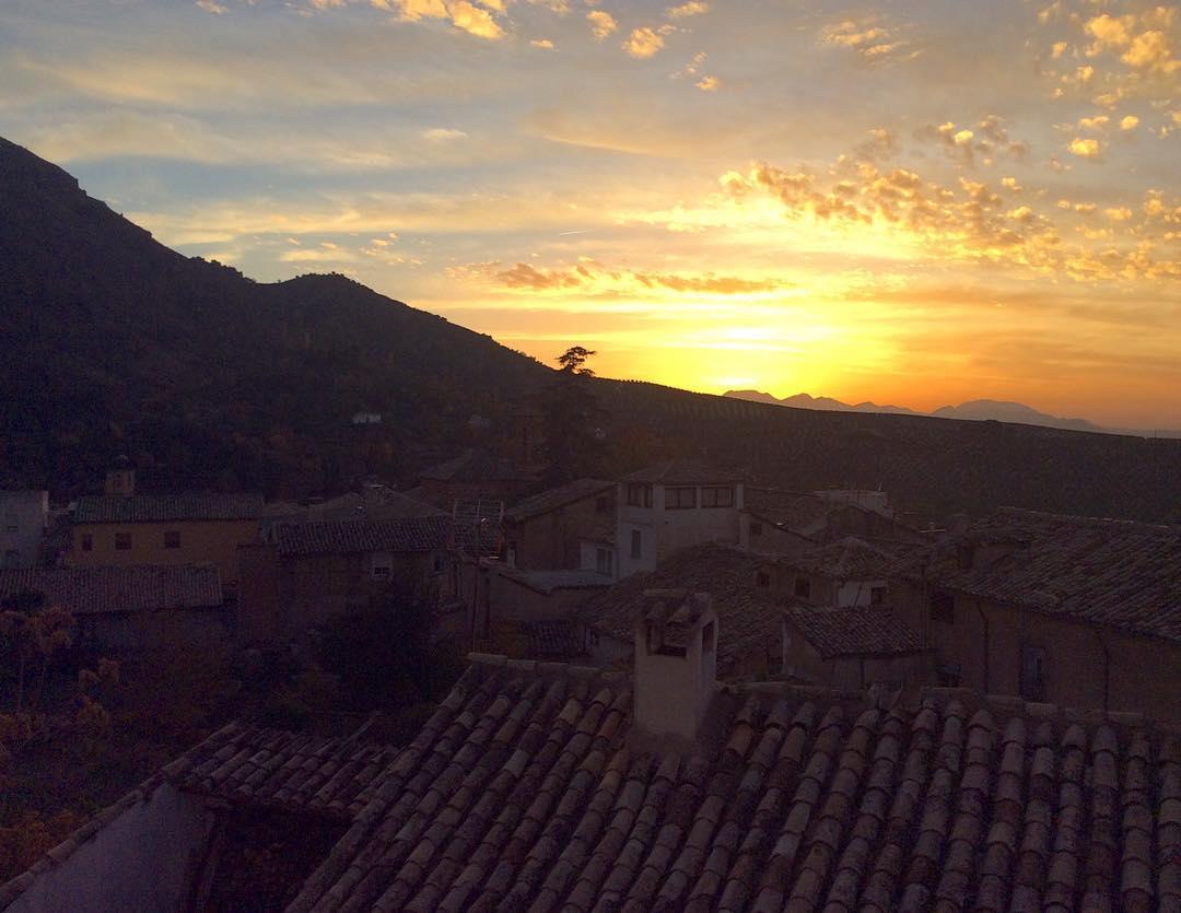 El solete cuando se esconde sunset atardercer cazorla andaluciahellip